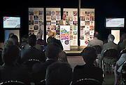 Nederland, Amsterdam, 1-9-2012 Manuscripta op het terrein van de Westergasfabriek. Boekenmarkt aan het begin van het nieuwe seizoen. Uitgevers tonen nieuwe titels. Philip Freriks spreekt op de meet and greet.Foto: Flip Franssen/Hollandse Hoogte