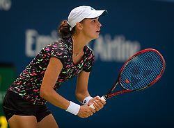 August 29, 2018 - Anhelina Kalinina of the Ukraine in action during her second-round match at the 2018 US Open Grand Slam tennis tournament. New York, USA. August 29th 2018. (Credit Image: © AFP7 via ZUMA Wire)