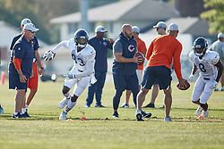 July 28, 2018 - Bourbonnais, IL, U.S. - BOURBONNAIS, IL - JULY 28: Chicago Bears wide receiver Javon Wims (83) participates in drills during the Chicago Bears training camp on July 28, 2018 at Olivet Nazarene University in Bourbonnais, Illinois. (Photo by Robin Alam/Icon Sportswire) (Credit Image: © Robin Alam/Icon SMI via ZUMA Press)