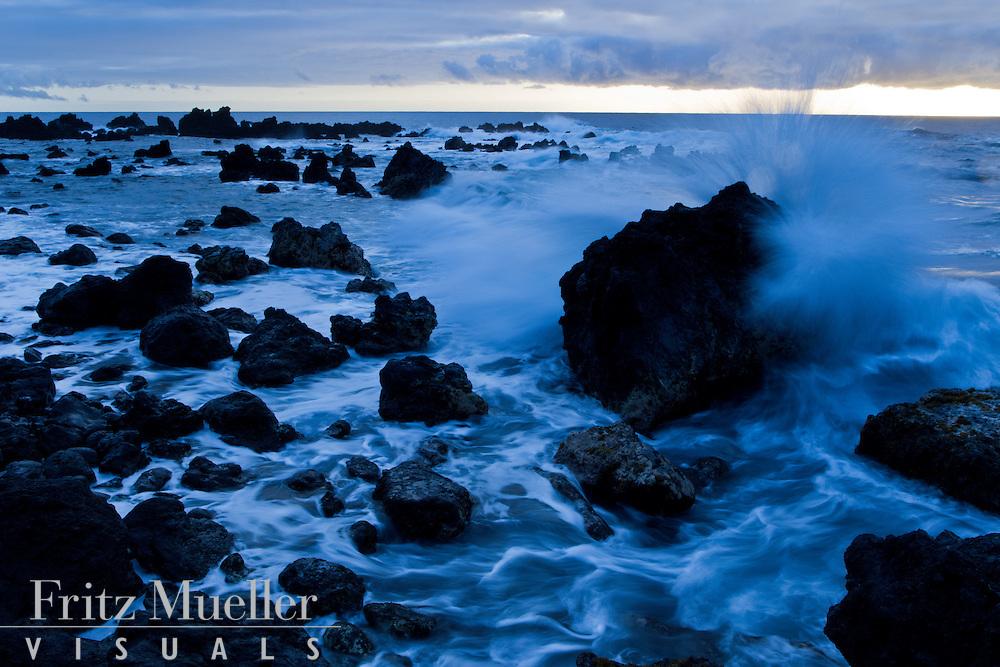 Sunset on the Hamakua Coast, Big Island, Hawaii