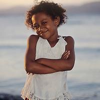Fiji Islands, Waiyevo, Taveuni island girl
