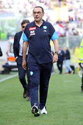 April 29, 2018 - Florence, Florence, Italy - 29th April 2018, Stadio Artemio Franchi, Florence, Italy; Serie A Football, Fiorentina versus Napoli; coach Maurizio Sarri of Napoli walks on the pitch before the match  Credit: Giampiero Sposito/Pacific Press (Credit Image: © Giampiero Sposito/Pacific Press via ZUMA Wire)