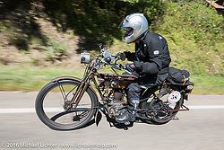 Norm Nelson of Florida riding his 1911 Reading Standard during the Motorcycle Cannonball Race of the Century. Stage-3 from Morgantown, WV to Chillicothe, OH. USA. Monday September 12, 2016. Photography ©2016 Michael Lichter.