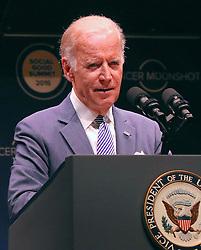 September 19, 2016 - New York, New York, United States - U.S. Vice President Joseph Biden speaks at the 2016 Social Good Summit at 92Y on September 19, 2016 in New York City  (Credit Image: © Nancy Rivera/Ace Pictures via ZUMA Press)