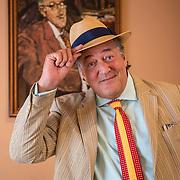 Stephen Fry celebrates Bloomsday in Dublin's James Joyce Centre.
