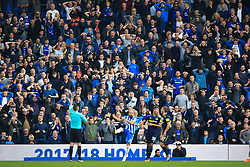 15 October 2017 -  Premier League - Brighton and Hove Albion v Everton - Everton fans react after a late chance to win the game - Photo: Marc Atkins/Offside