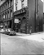 01/07/1969<br /> 07/01/1969<br /> 01 July 1969<br /> Pubs in and about Dublin. McDaids, 3 Harry St, Dublin<br /> Triumph 1300 FWD, Morris Mini car