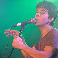 Asa Taccone (lead singer with Electric Guest) performing live at Sound Control, Manchester, 2013-02-15