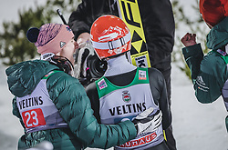 30.12.2018, Schattenbergschanze, Oberstdorf, GER, FIS Weltcup Skisprung, Vierschanzentournee, Oberstdorf, 2. Wertungsdurchgang, im Bild Karl Geiger (GER), Markus Eisenbichler (GER) // Karl Geiger of Germany Markus Eisenbichler of Germany during his 2nd Competition Jump for the Four Hills Tournament of FIS Ski Jumping World Cup at the Schattenbergschanze in Oberstdorf, Germany on 2018/12/30. EXPA Pictures © 2018, PhotoCredit: EXPA/ JFK
