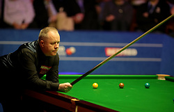John Higgins looks on during day seventeen of the 2018 Betfred World Championship at The Crucible, Sheffield.