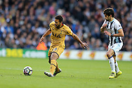 Mousa Dembele of Tottenham Hotspur in action (l).Premier league match, West Bromwich Albion v Tottenham Hotspur at the Hawthorns stadium in West Bromwich, Midlands on Saturday 15th October 2016. pic by Andrew Orchard, Andrew Orchard sports photography.