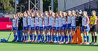 ANTWERP - BELFIUS EUROHOCKEY Championship.  women  England v Belarus (4-3) . line up England. right umpire Claire Druijts.  WSP/ KOEN SUYK