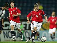 Fotball / Football<br /> European U21 Qualifying match<br /> Norway v Scotland 0-1<br /> Norge v Skottland<br /> Drammen 06.09.2005<br /> Photo: Morten Olsen, Digitalsport<br /> <br /> Bjørn Helge Riise NOR and Lillestrøm got the captaincy in the second half