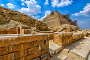 The funerary complex of Djoser and the step pyramid during  the now completed renovations