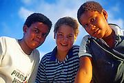 Teenage boys, Cayman Brac, Cayman Islands,