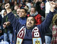Burnley fans go wild in celebration after Ashley Barnes' injury time winner <br /> <br /> Photographer Alex Dodd/CameraSport<br /> <br /> The Premier League - Burnley v Crystal Palace - Saturday 5th November 2016 - Turf Moor - Burnley<br /> <br /> World Copyright © 2016 CameraSport. All rights reserved. 43 Linden Ave. Countesthorpe. Leicester. England. LE8 5PG - Tel: +44 (0) 116 277 4147 - admin@camerasport.com - www.camerasport.com
