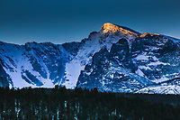 13,153 ft. Taylor Peak along the Continental Divide.  Rocky Mountain National Park, Colorado.