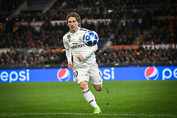 November 27, 2018 - Rome, Italy - Real Madrid's Croatian midfielder Luka Modric control the ball during the Champions league football match between AS Roma  and Real Madrid at Olimpico stadium in Rome, Italy, on November 27, 2018. (Credit Image: © Federica Roselli/NurPhoto via ZUMA Press)