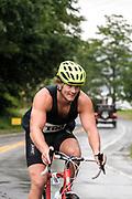 Jeff Ledwick during the bike segment in the 2018 Hague Endurance Festival Sprint Triathlon