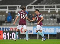 Football - 2021 / 2021 Premier League - Newcastle United vs Burnley - St Jame's Park<br /> <br /> Ashley Westwood of Burnley FC celebrates scoring the equaliser to make it 1-1<br /> <br /> <br /> COLORSPORT/BRUCE WHITE
