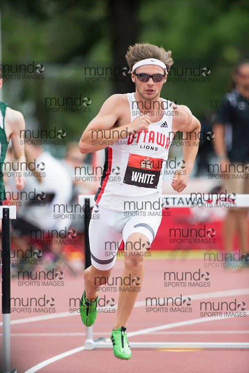(Ottawa, Canada---08 July 2017) Austin White competing in the 400m hurdle heats at the 2017 Canadian Track and Field Championships. (Photo by Sean W Burges / Mundo Sport Images).