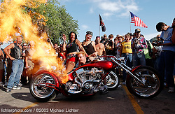 On Fire, Paul Yaffe in Sundance. WY. 2003<br /> <br /> Limited Edition Print from an edition of 50. Photo ©2003 Michael Lichter.