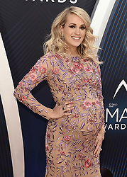 52nd Annual CMA Awards at the Bridgetone Arena on November 14, 2018 iin Nashville, Tennessee. (Photo by Scott Kirkland/PictureGroup). 14 Nov 2018 Pictured: Carrie Underwood. Photo credit: Scott Kirkland/PictureGroup / MEGA TheMegaAgency.com +1 888 505 6342