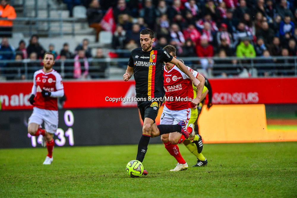 Pierrick VALDIVIA - 25.01.2015 - Reims / Lens  - 22eme journee de Ligue1<br /> Photo : Dave Winter / Icon Sport *** Local Caption ***