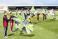 Flag bearers during the EFL Sky Bet League 2 match between Forest Green Rovers and Exeter City at the New Lawn, Forest Green, United Kingdom on 4 May 2019.