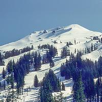 SKIING, Mt. Bachelor Ski Area, OR.