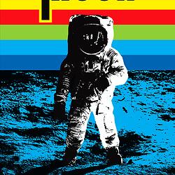 Moon Walker - Apollo Moon Landing retro astronaut pop art space poster illustration