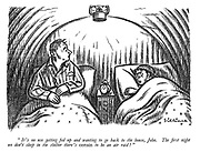 """""""It's no use getting fed up and wanting to go back to the house, John. The first night we don't sleep in the shelter there's certain to be an air raid!"""""""