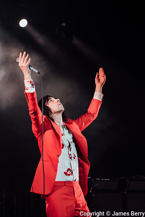 Primal Scream perform live at Brixton Academy, London, on Thursday 15 December 2016. Picture shows Bobby Gillespie.