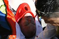 Sykkel<br /> Tour de France 2007<br /> Foto: PhotoNews/Digitalsport<br /> NORWAY ONLY<br /> <br /> Tour de France 8e etappe  - Le Grand Bornand  - Tignes <br /> <br /> Stuart O'Grady (Aus-CSC)  veltet stygt