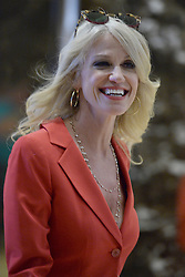 Kellyanne Conway, campaign manager and strategist, is seen in the lobby of the Trump Tower in New York, NY, on November 28, 2016. (Anthony Behar / Pool)