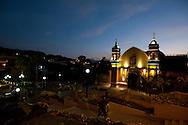 Barranco. Las Ermitas church by night