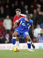Photo: Rich Eaton.<br /> <br /> Bristol City v Millwall. Coca Cola League 1. 16/12/2006. Lee Johnson left of Bristol tackles Darren Byfield of Millwall