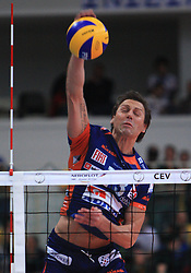 Sasa Gadnik at volleyball match of CEV Indesit Champions League Men 2008/2009 between Trentino Volley (ITA) and ACH Volley Bled (SLO), on November 4, 2008 in Palatrento, Italy. (Photo by Vid Ponikvar / Sportida)
