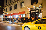 A view from outside Le Poisson Rouge hosting the Red Bull Sound Select Series in New York, NY on February 19, 2014.