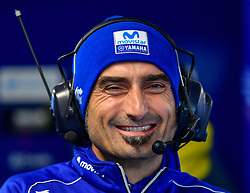 October 26, 2018 - Melbourne, Victoria, Australia - Yamaha engineer Matteo Flamigni in the garages during day 2 of the 2018 Australian MotoGP held at Phillip Island, Australia. (Credit Image: © Theo Karanikos/ZUMA Wire)
