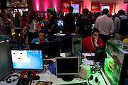 Sao Paulo_SP, Brasil...Campus Party Brasil. Feira reunindo comunidades e usuarios da rede envolvidos com tecnologia e cultura digital, no Centro de Exposicoes Imigrantes em Sao Paulo...The Campus Party Brazil is considered the biggest event for technology, creativity and digital culture online in the world, in the Exhibition Center in Sao Paulo...Foto: MARCUS DESIMONI / NITRO