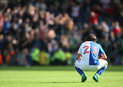 Bradley Dack of Blackburn Rovers looks dejected after Alfie May of Doncaster Rovers (Not Pictured) scored his sides third goal - Mandatory by-line: Jack Phillips/JMP - 12/08/2017 - FOOTBALL - Ewood Park - Blackburn, England - Blackburn Rovers v Doncaster Rovers - English Football League One
