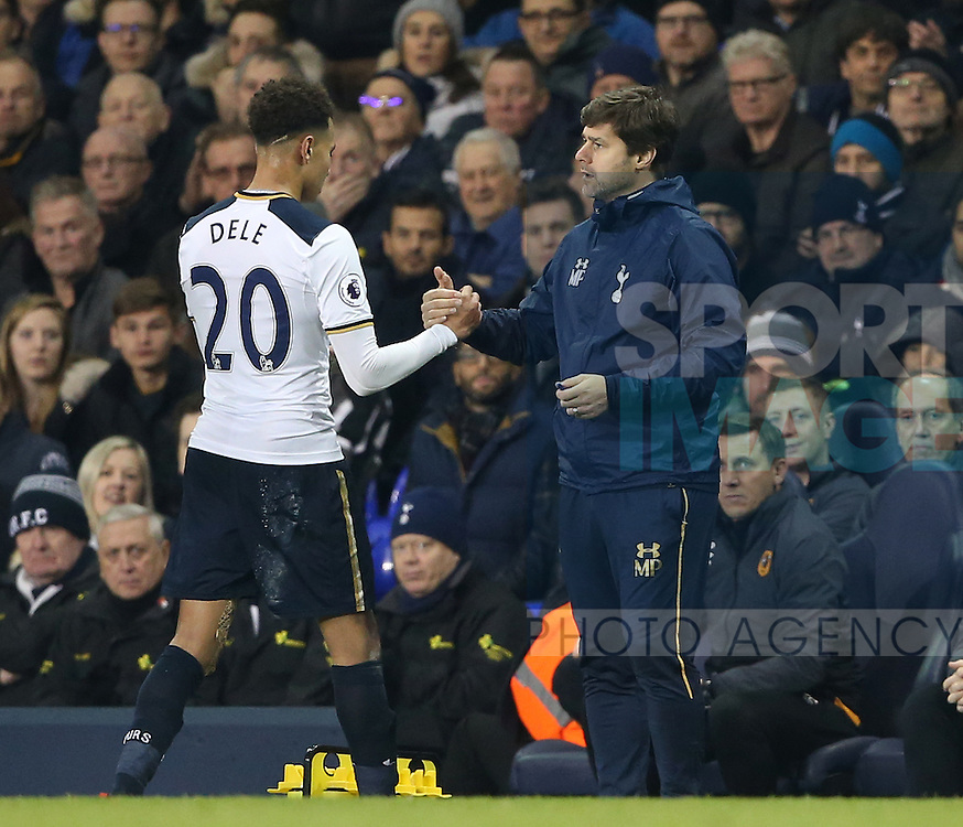 Tottenham's Dele Alli gets substituted during the Premier League match at White Hart Lane Stadium, London. Picture date December 14th, 2016 Pic David Klein/Sportimage