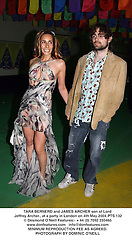 TARA BERNERD and JAMES ARCHER son of Lord Jeffrey Archer., at a party in London on 4th May 2004.PTS 132