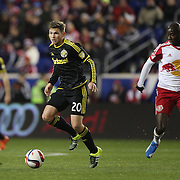 Wil Trapp, Columbus Crew SC, in action during the New York Red Bulls Vs Columbus Crew SC, Major League Soccer Eastern Conference Championship, second leg, at Red Bull Arena, Harrison, New Jersey. USA. 29th November 2015. Photo Tim Clayton
