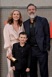 Jeffrey Dean Morgan and Hilarie Burton attend the premiere of Warner Bros. Pictures Rampage at Microsoft Theatre on April 4, 2018 in Los Angeles, California. Photo by Lionel Hahn/ABACAPRESS.COM