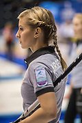 """Glasgow. SCOTLAND. Russia's, Galina ARSENKINA """"Round Robin"""" Games. Le Gruyère European Curling Championships. 2016 Venue, Braehead  Scotland<br /> Monday  21/11/2016<br /> <br /> [Mandatory Credit; Peter Spurrier/Intersport-images]"""