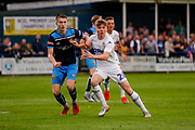 Leeds United Leif Davis (28)  during the Pre-Season Friendly match between Tadcaster Albion and Leeds United at i2i Stadium, Tadcaster, United Kingdom on 17 July 2019.