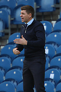 Steven Gerrard (Rangers) gestures during the Scottish Premiership match between Rangers and Ross County at Ibrox, Glasgow, Scotland on 4 October 2020.