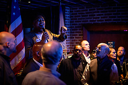 November 3, 2018 - Philadelphia, Pennsylvania - Candiate for State Representative Malcom Kenyatta speaks to the crowd at a get-out-the-vote event at Woody's, a iconic gay bar in Philadelphia, November 3, 2018. (Credit Image: © Michael Candelori/NurPhoto via ZUMA Press)